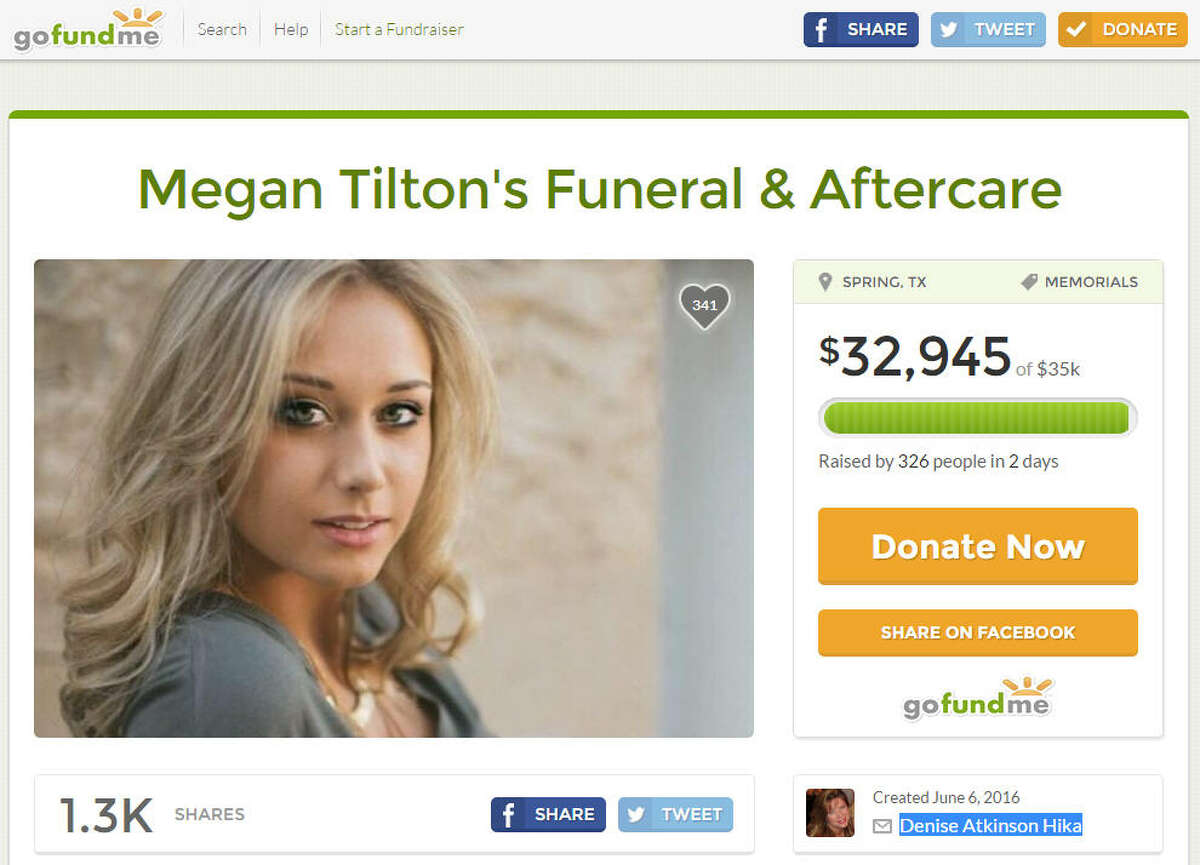 A GoFundMe page has been set up for the family of 18-year-old Megan Tilton, who died after attending the annual Free Press Summer Festival on Sunday.