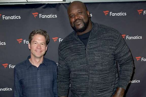 SAN FRANCISCO, CA - FEBRUARY 06:  CEO of Fanatics Doug Mack and former NFL player Shaquille O'Neal attend the Fanatics Super Bowl Party on February 6, 2016 in San Francisco, California.  (Photo by Joe Scarnici/Getty Images for Fanatics)