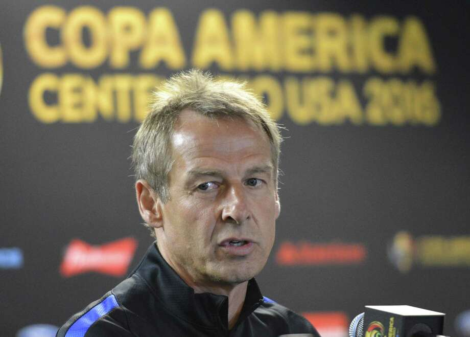 USA coach Jurgen Klinsmann speaks during a press conference at Sodier Field stadium on June 6, 2016 in, Chicago, Illinois ahead of the Copa America match against Costa Rica. / AFP PHOTO / OMAR TORRESOMAR TORRES/AFP/Getty Images Photo: OMAR TORRES, Stringer / AFP or licensors