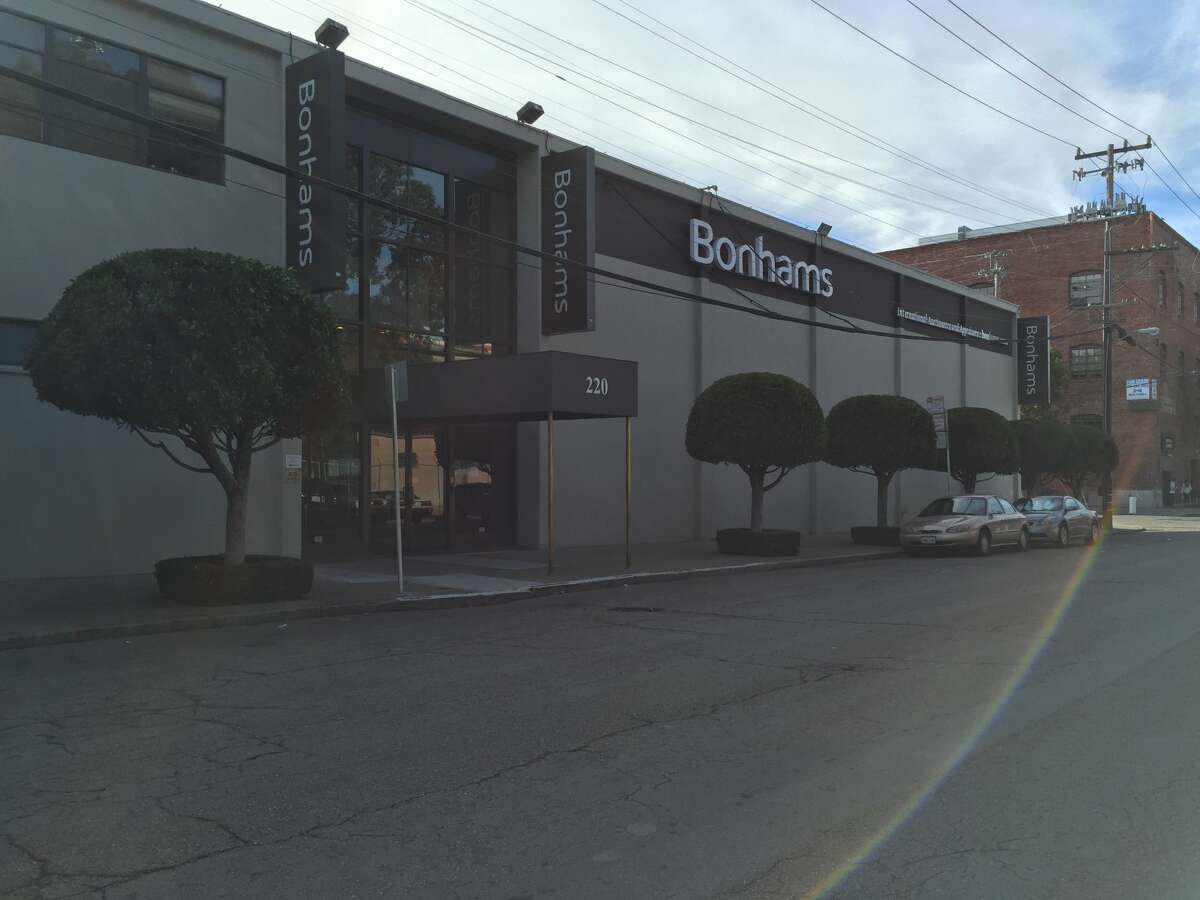 The entrance to Bonhams Auction House in San Francisco on San Bruno Avenue and 15th Street.