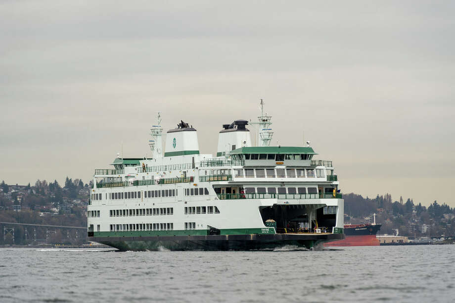 With two boats out of service, the San Juan Islands and Port Townsend routes will see delays until further notice.Photo: This 2014 photo shows the MV Tokitae during sea trials on Elliott Bay. The Olympic Class vessel was the first of the new class to be completed, but has since been joined by the Samish and will eventually be joined by the Chimacum and the Suquamish. Photo courtesy WSDOT/Washington State Ferries. Photo: Courtesy WSF