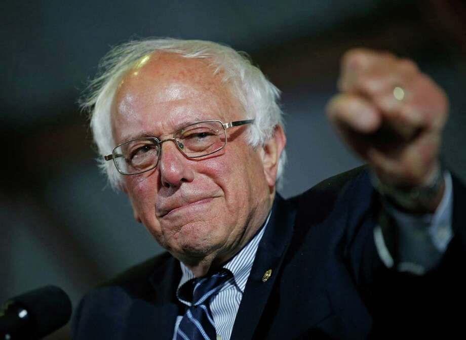 Democratic presidential candidate Sen. Bernie Sanders, I-Vt., speaks at a rally Tuesday, June 7, 2016, in Santa Monica, Calif. (AP Photo/John Locher) Photo: John Locher, STF / Copyright 2016 The Associated Press. All rights reserved. This material may not be published, broadcast, rewritten or redistribu