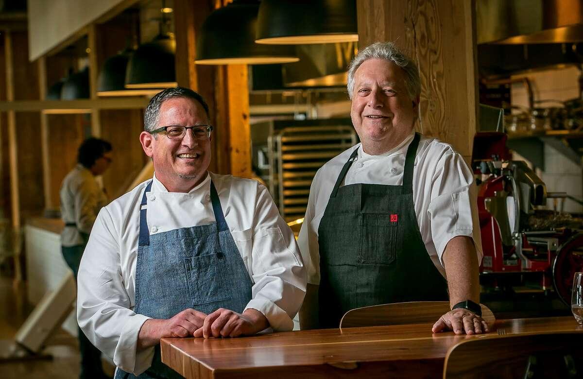 Chefs David Suarez and Jonathan Waxman at Waxman's in San Francisco, California are seen on June 8th, 2016.