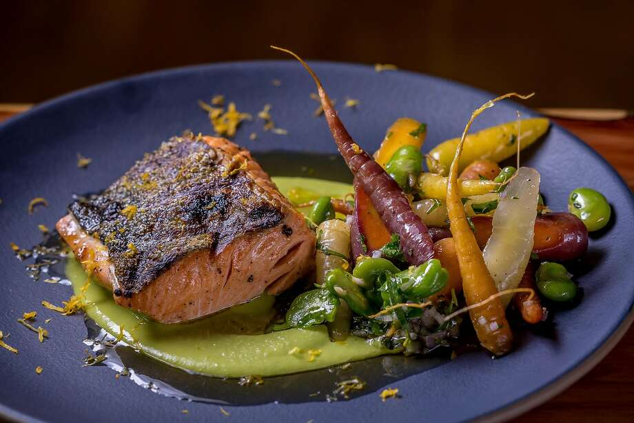 Wild California salmon at Waxman's in S.F.'s Ghirardelli Square. Photo: John Storey, Special To The Chronicle