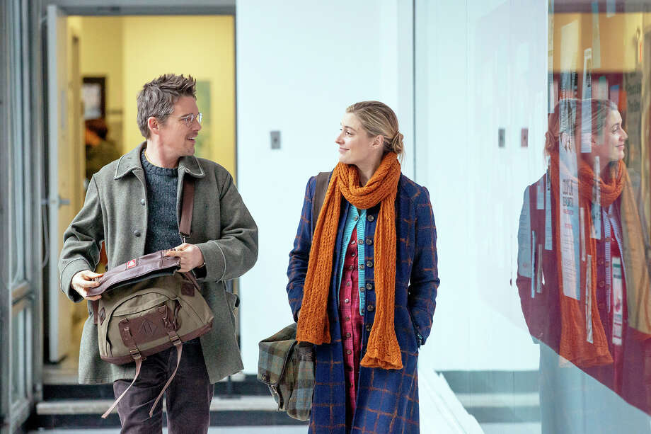 "Ethan Hawke and Greta Gerwig take an adulterous walk in """"Maggie''s Plan."" "" Photo: Sony Pictures Classics / Hall Monitor, Inc."