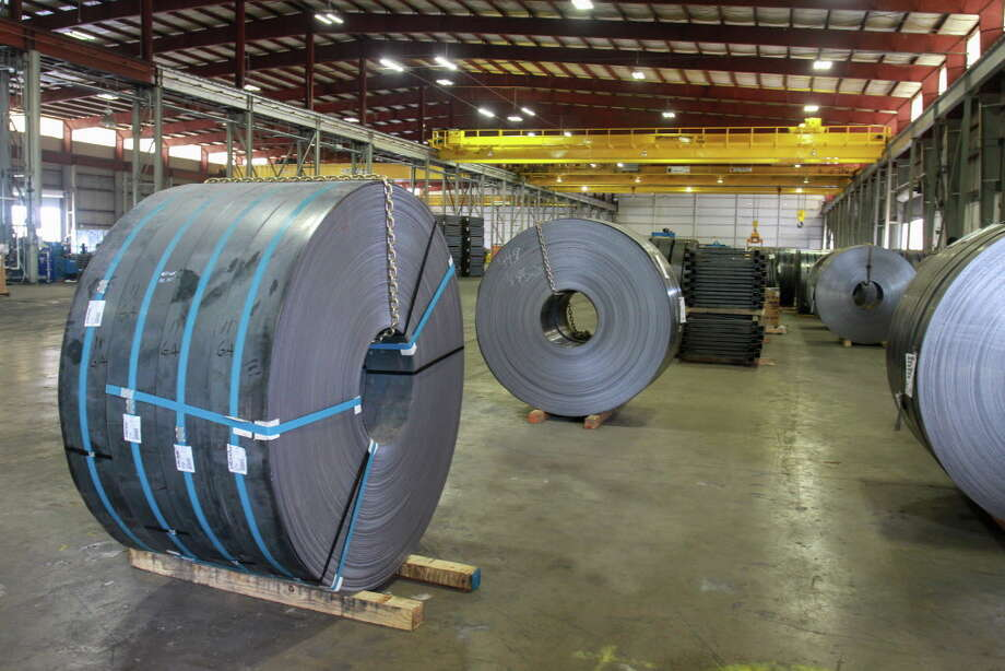 Raw steel coiling at Hannibal Industries Inc. production facility in Houston. (For the Chronicle/Gary Fountain, June 2, 2016) Photo: Gary Fountain, Gary Fountain/For The Chronicle / Copyright 2016 Gary Fountain