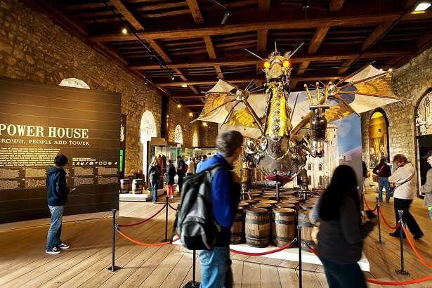 The Tower of London's dragon, made of old weaponry, thrills visitors young and old.