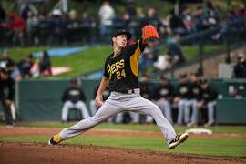 In this photo taken Thursday, June 2, 2016, Tim Lincecum pitches for the Triple-A Salt Lake Bees in a minor league baseball game against the Tacoma Rainiers in Tacoma, Wash. Lincecum, 7-4 last season with San Francisco, underwent season-ending hip surgery last September and was released by the Giants. He was signed by the Los Angeles Angels two weeks ago. (Dean Rutz(/The Seattle Times via AP) SEATTLE OUT; USA TODAY OUT; MAGS OUT; TELEVISION OUT; NO SALES; MANDATORY CREDIT TO BOTH THE SEATTLE TIMES AND THE PHOTOGRAPHER