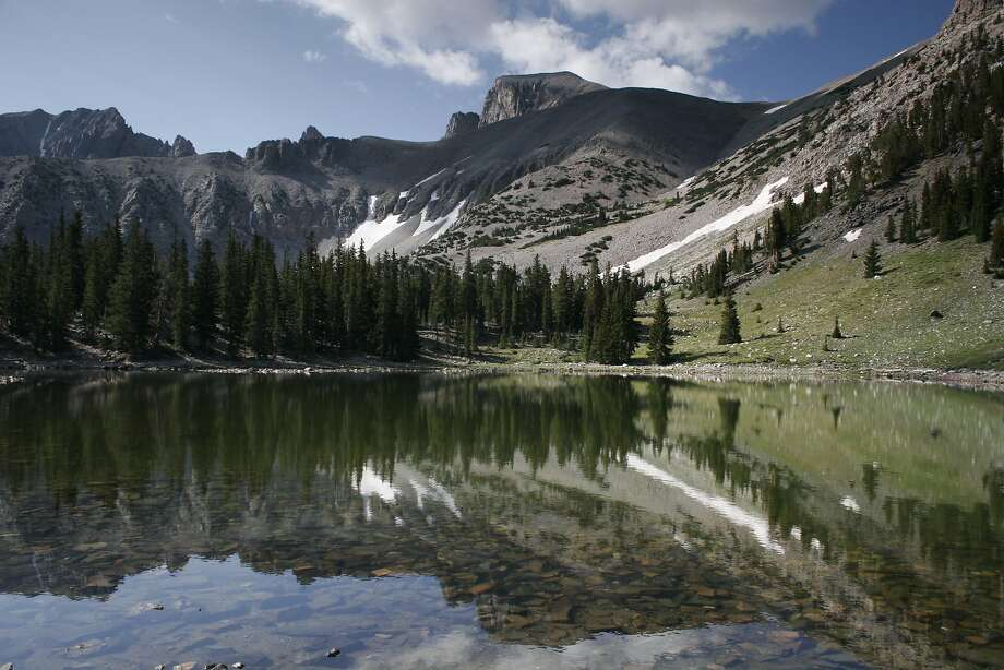 Stella Lake below Wheeler Peak reflects the staggering beauty of Great Basin National Park in Nevada. Photo: RICHARD MILLER, SPECIAL TO THE EXPRESS-NEWS
