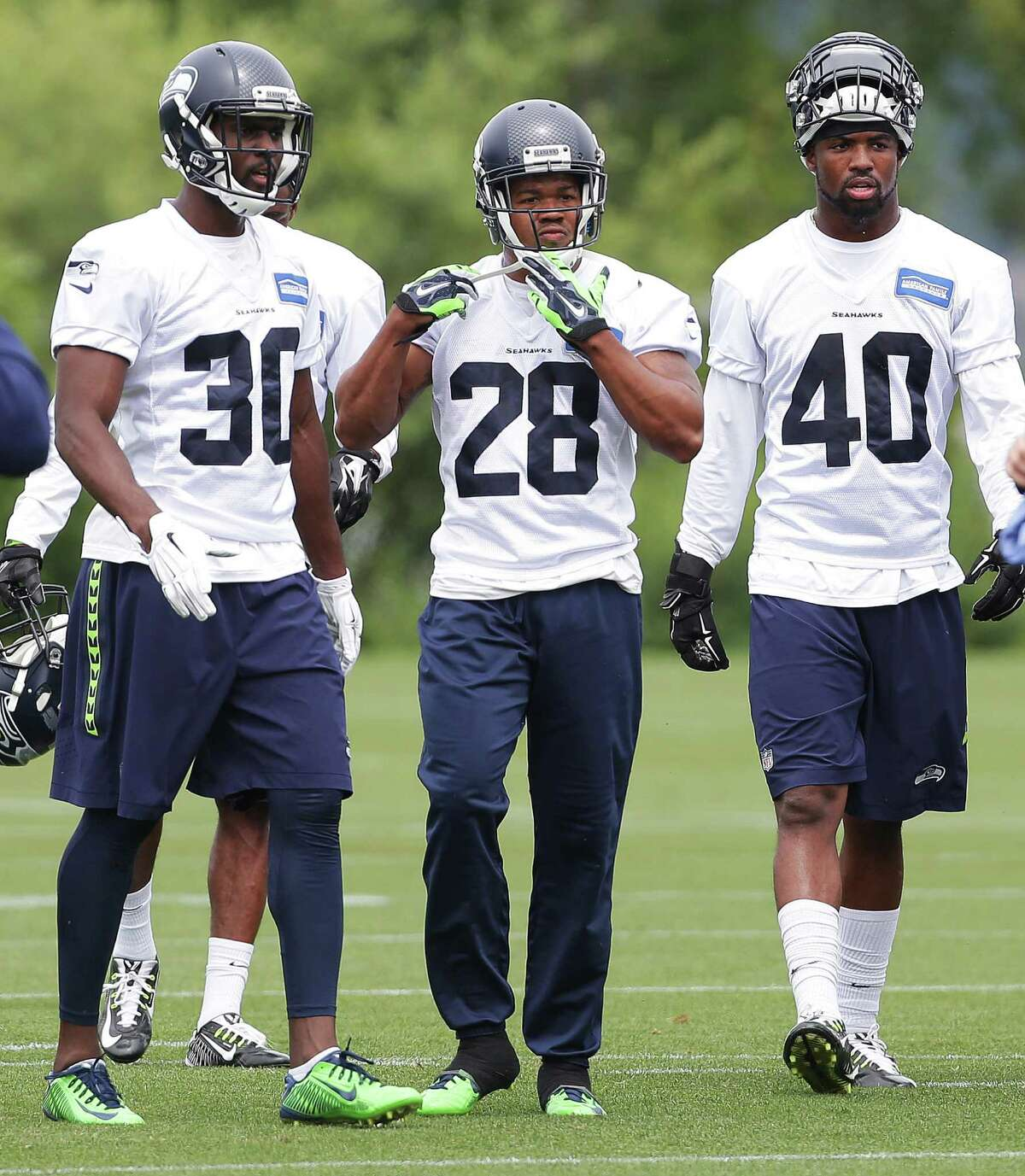 Tough road ahead for young D-backs It's going to be incredibly difficult for young players to break through in Seattle's defensive backfield. That was evident during OTAs, when all of the founding members of the