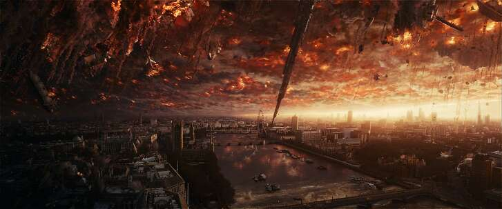"Aliens attack London in ""Independence Day: Resurgence,"" opening at Bay Area theaters on Friday, June 24. Photo� courtesy of Twentieth Century Fox."
