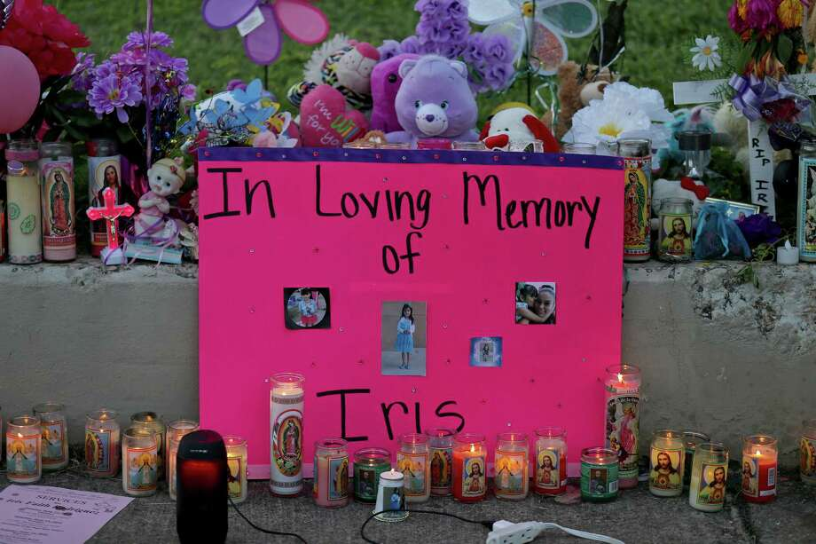 Friends and loved ones set up a memorial for 7-year-old Iris Rodriguez during a candlelight vigil Monday. The girl was fatally shot in the 5500 block of San Fernando Street. A reader says the tragedy indicates that the most vulnerable among us need more protection. Photo: Edward A. Ornelas /San Antonio Express-News / © 2016 San Antonio Express-News