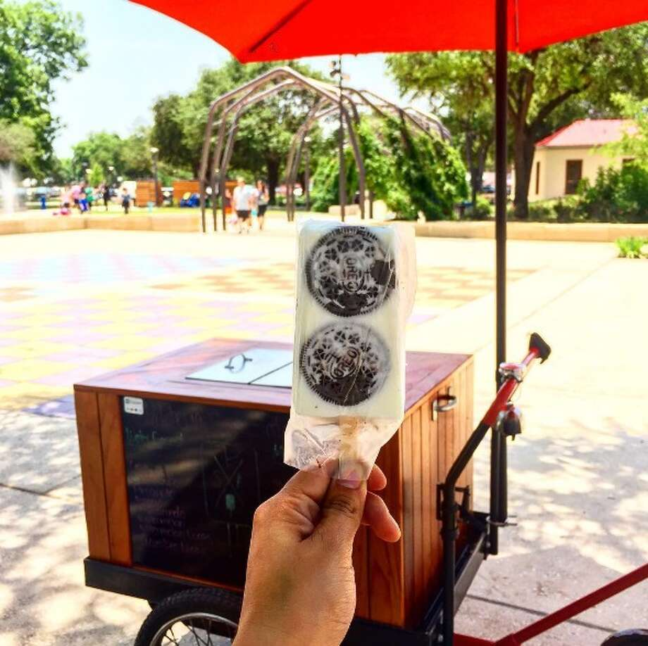 "The cookies and cream paleta is a crowd and palate-pleaser due to what Rodriguez calls ""food art."" Photo: Provided By Paleteria San Antonio"