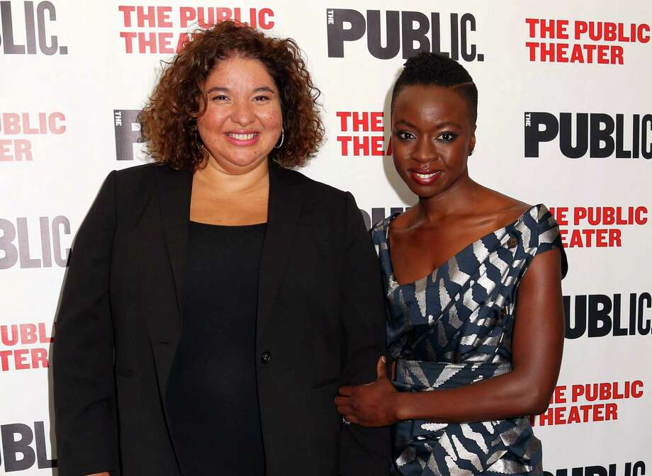 "FILE - In this Oct. 14, 2015 file photo, director Liesl Tommy, left, and Danai Gurira attend the opening night celebration of ""Eclipsed"" in New York. Tommy, the South African-born director, has capped a remarkable season for nurturing ""Eclipsed"" on Broadway and earning a Tony Award nomination for directing. The Tony Awards will be held on Sunday, June 12. (Photo by Greg Allen/Invision/AP, File) ORG XMIT: NYET302 Photo: Greg Allen / Invision"
