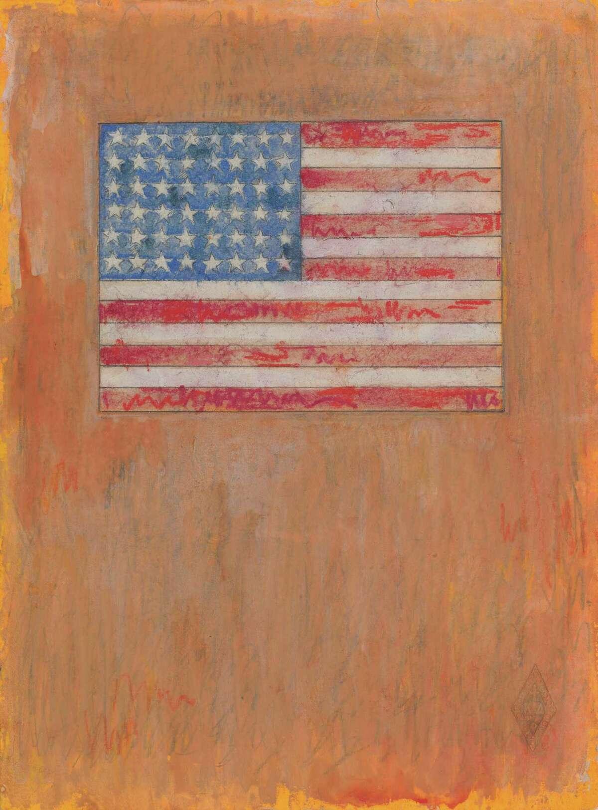 """Jasper Johns, """"Flag on Orange Field,"""" 1957"""