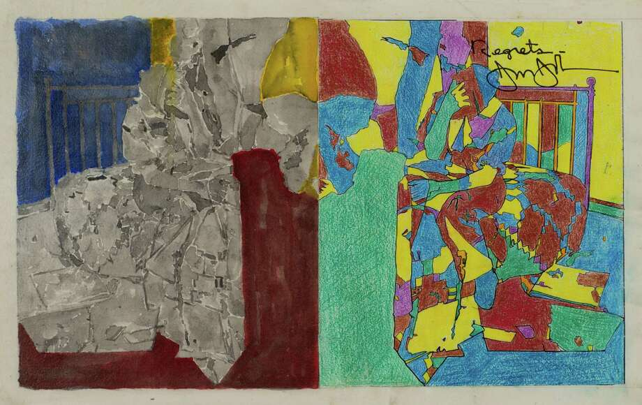 Selected Images from the Promised Gift of Louisa Stude Sarofim and Janie C. Lee to The Menil Collection: Jasper Johns, Study for Regrets, 2012 Photo: The Menil Collection / © Jasper Johns / Licensed by VAGA, New York, NY