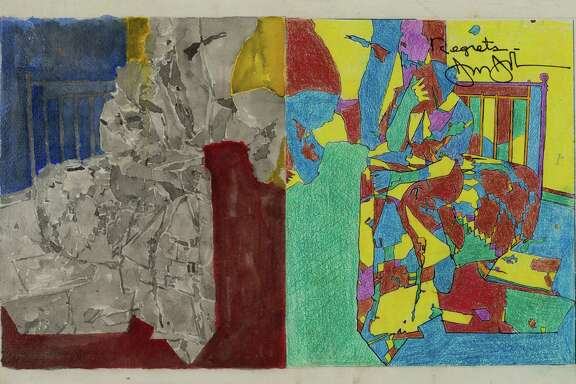 Selected Images from the Promised Gift of Louisa Stude Sarofim and Janie C. Lee to The Menil Collection: Jasper Johns, Study for Regrets, 2012