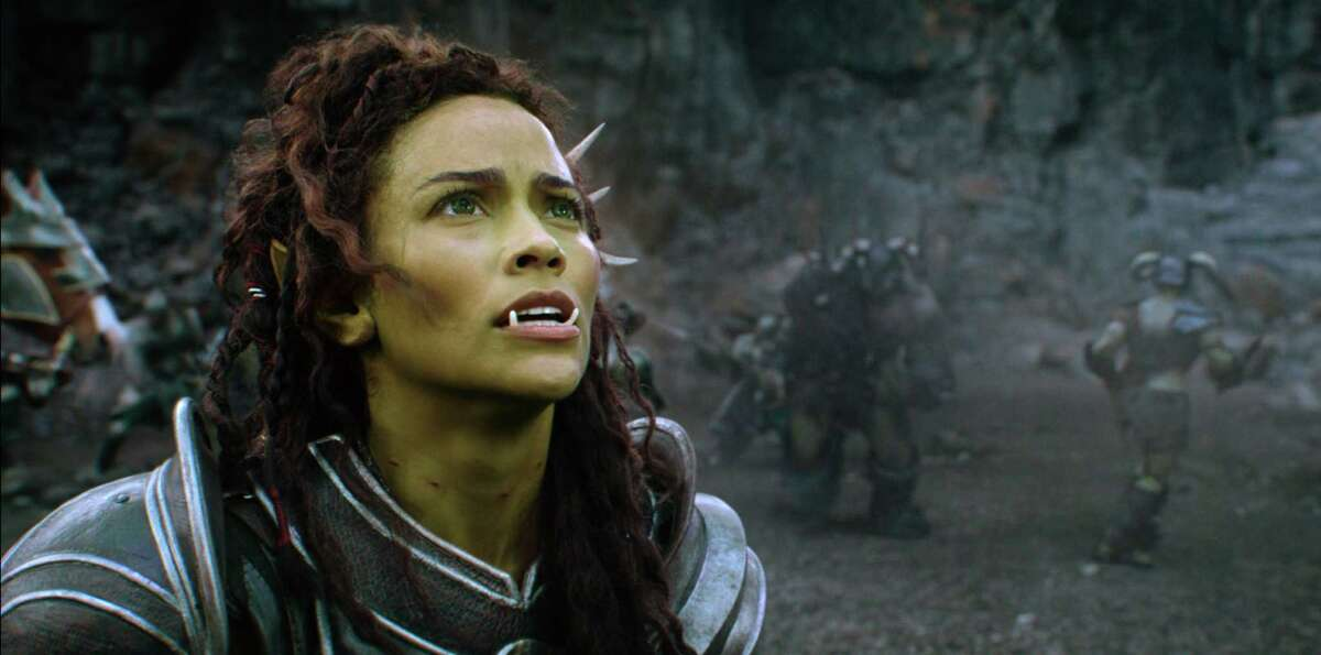 This image released by Universal Pictures shows Paula Patton as Garona in a scene from the film,