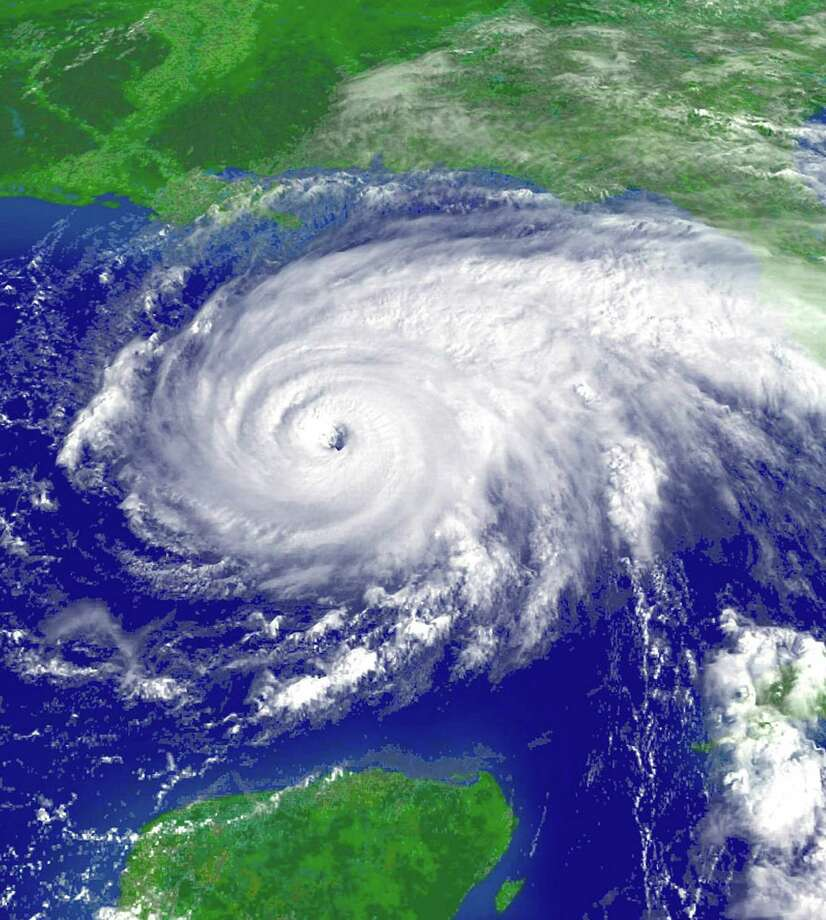 A satellite image shows Hurricane Rita heading for the Gulf Coast in September 2005. That year saw so many storms that the entire list of names was exhausted. Photo: HO / X80001