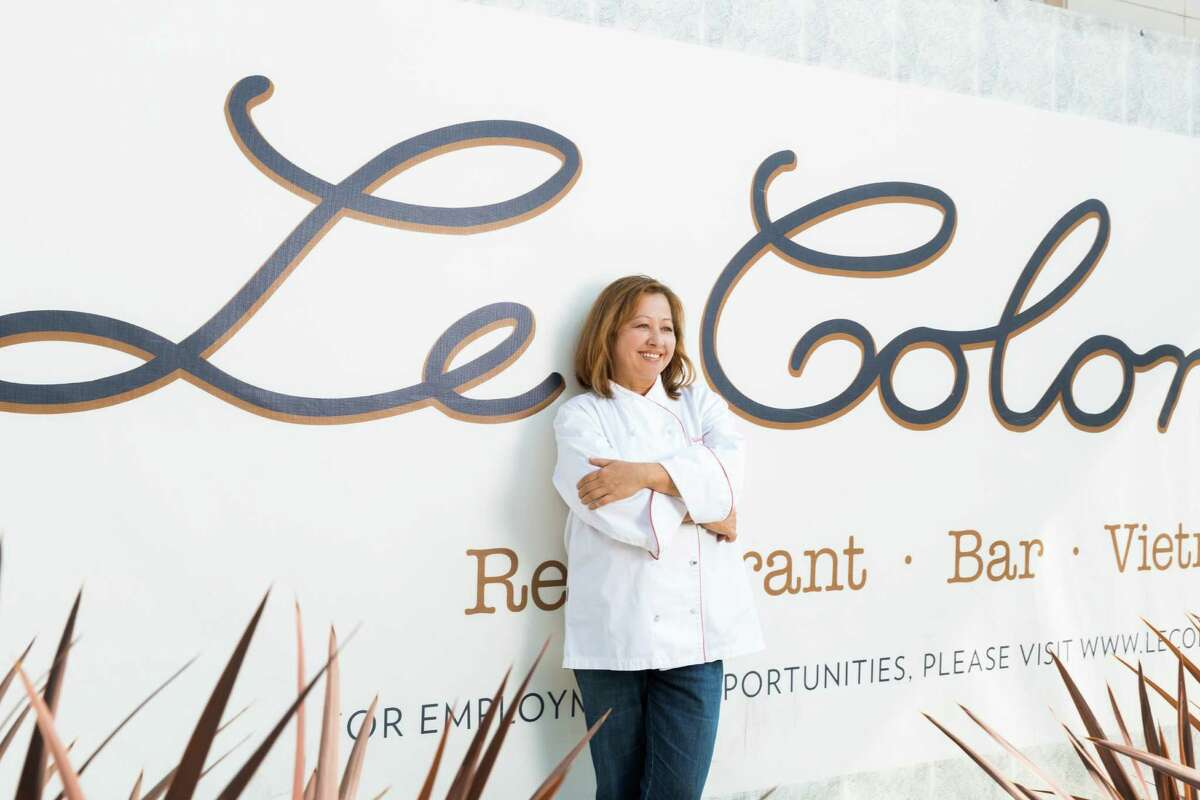 Nicole Routheir, partner and culinary director, stands in front of Le Colonial in River Oaks District. The French/Vietnamese restaurant and lounge expects to open in late July.