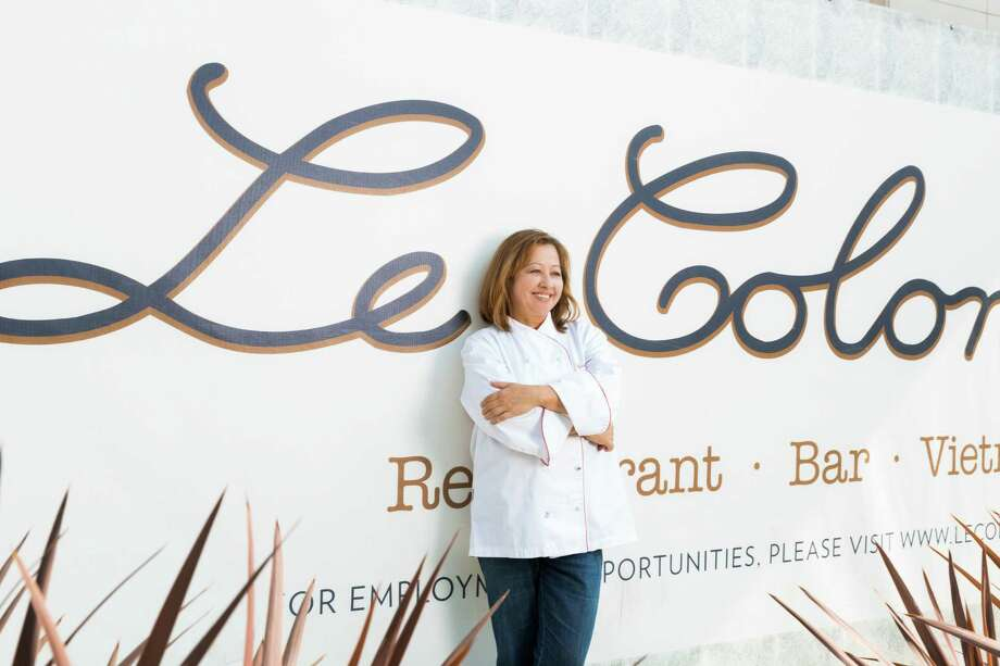 Nicole Routheir, partner and culinary director, stands in front of Le Colonial in River Oaks District. The French/Vietnamese restaurant and lounge expects to open in late July. Photo: Julie Soefer