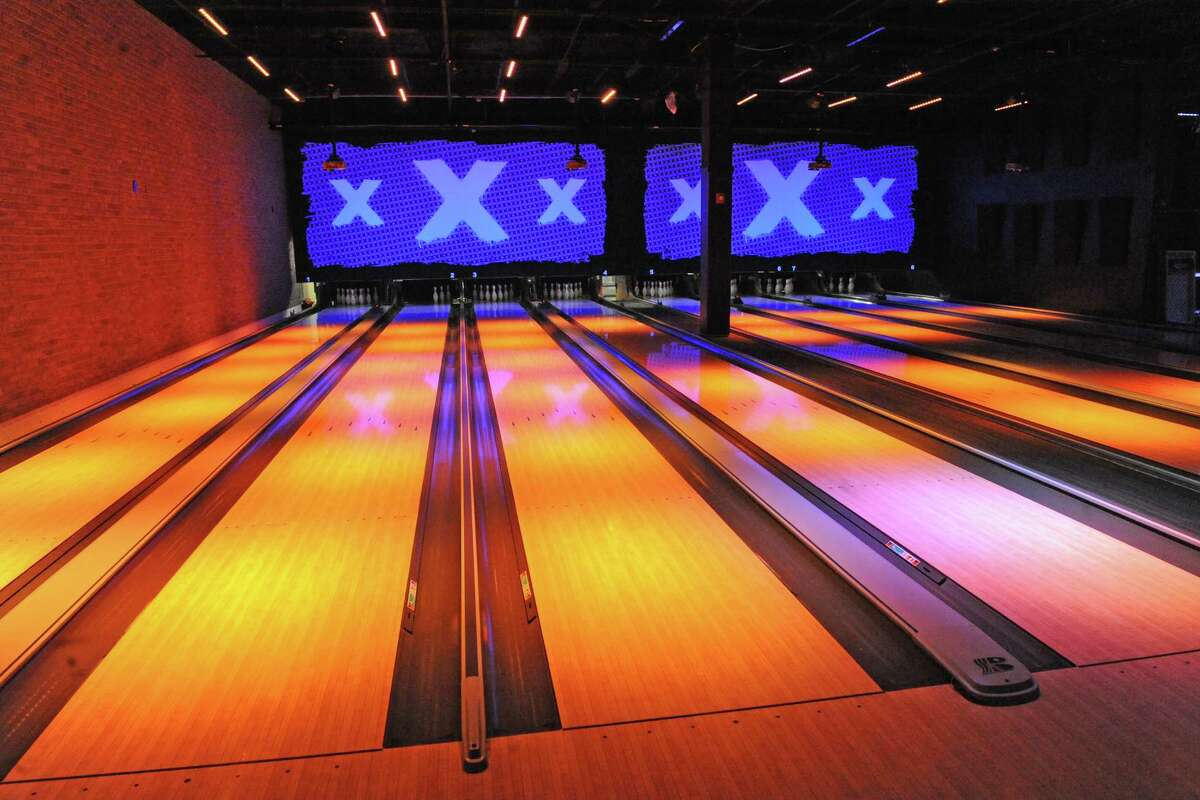 Bowling lanes at Lucky Strike Social on Thursday June 9, 2016 in Guilderland, N.Y. (Michael P. Farrell/Times Union)