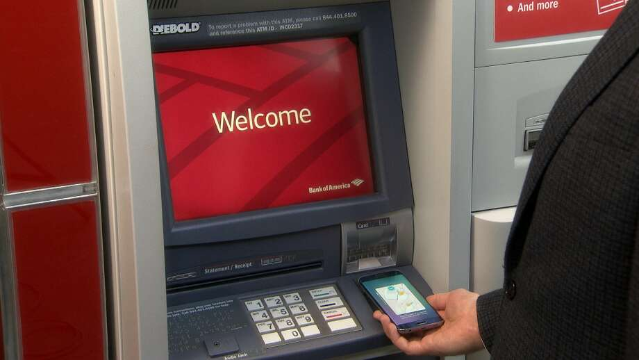 Bank of America has unveiled in San Antonio ATMs that allow customers to get cash using their smartphones. Photo: Courtesy Photo