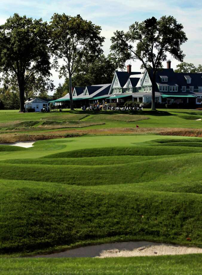 ADVANCE FOR WEEKEND EDITIONS, JUNE 11-12 - This Sept. 21,  2015, file photo, shows the clubhouse at Oakmont Country Club in Oakmont, Pa. The U.S. Open Golf Championship returns to Oakmont, perhaps the most storied, and feared, championship golf course in America. (AP Photo/Gene J. Puskar, File)  ORG XMIT: NY204 Photo: Gene J. Puskar / AP