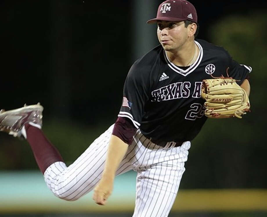 Texas A&M closer Mark Ecker, who attended O'Connor High School, has only given up two earned runs in 44 innings of work. He has a 0.41 ERA. Photo: Coutesy Texas A&M Athletics
