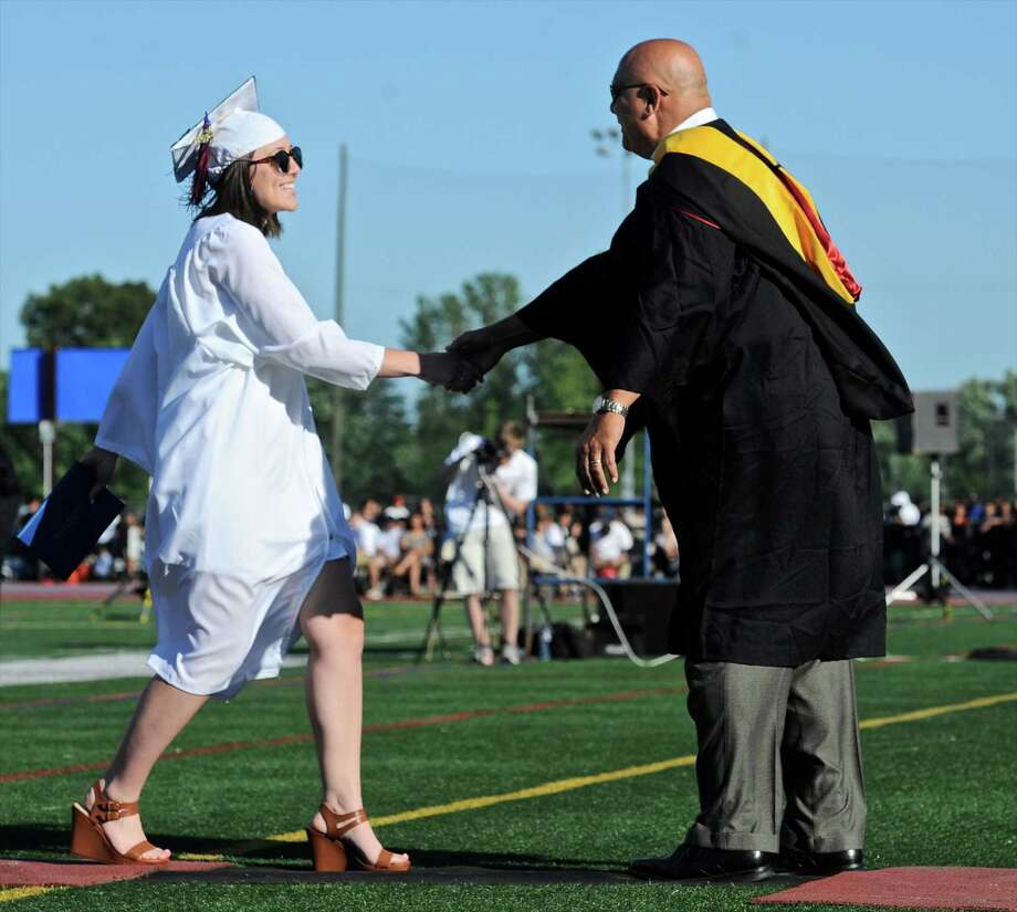 Danbury High School 2016 Commencement Exercises, held at Danbury High School, Wednesday, June 9, 2016, in Danbury, Conn. Photo: H John Voorhees III, Hearst Connecticut Media / The News-Times