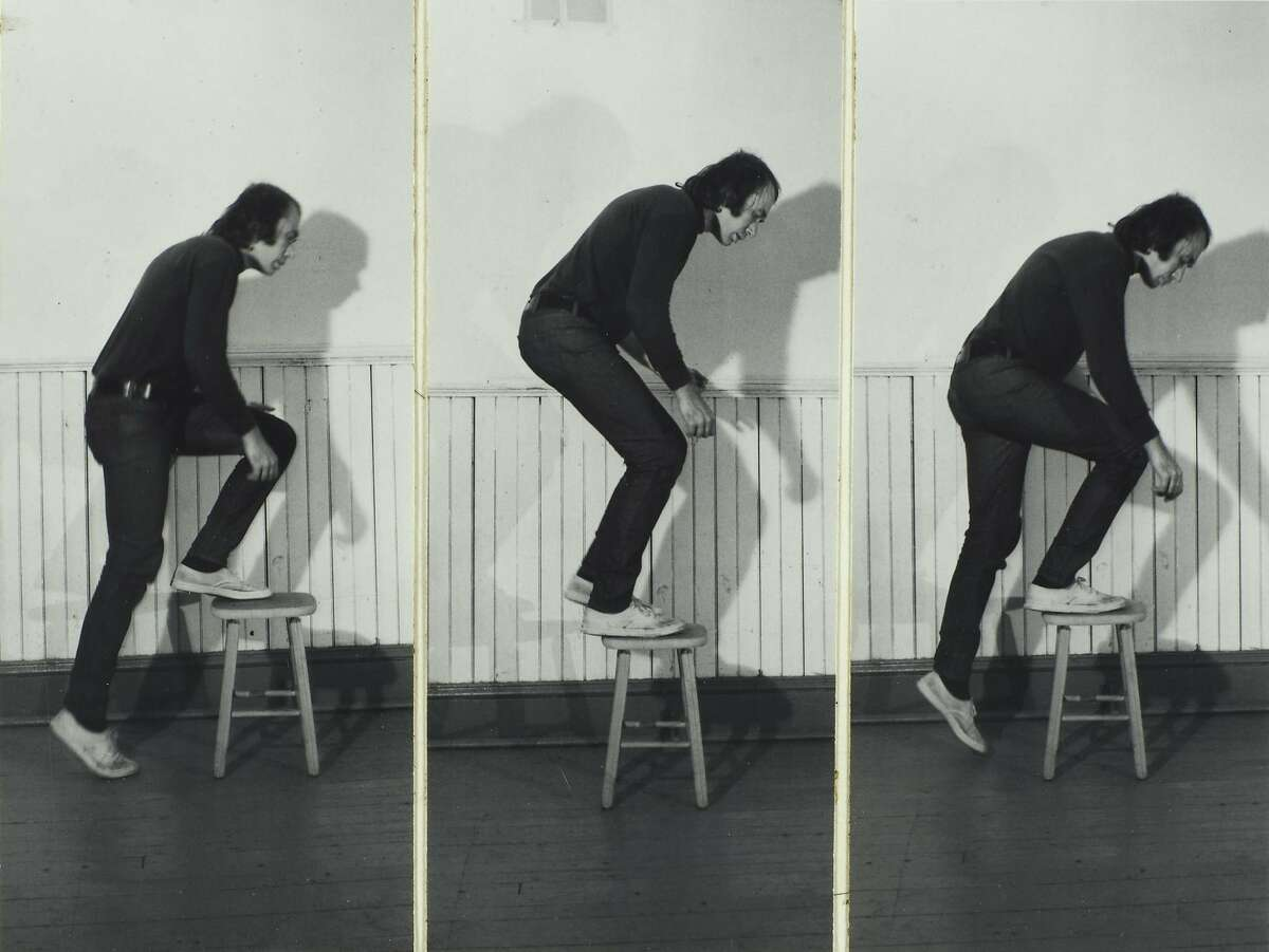 """""""Step Piece"""" (1971); by�Vito Acconci,�part of a large gift of photographs from�Lisa and John Pritzker to SFMOMA"""