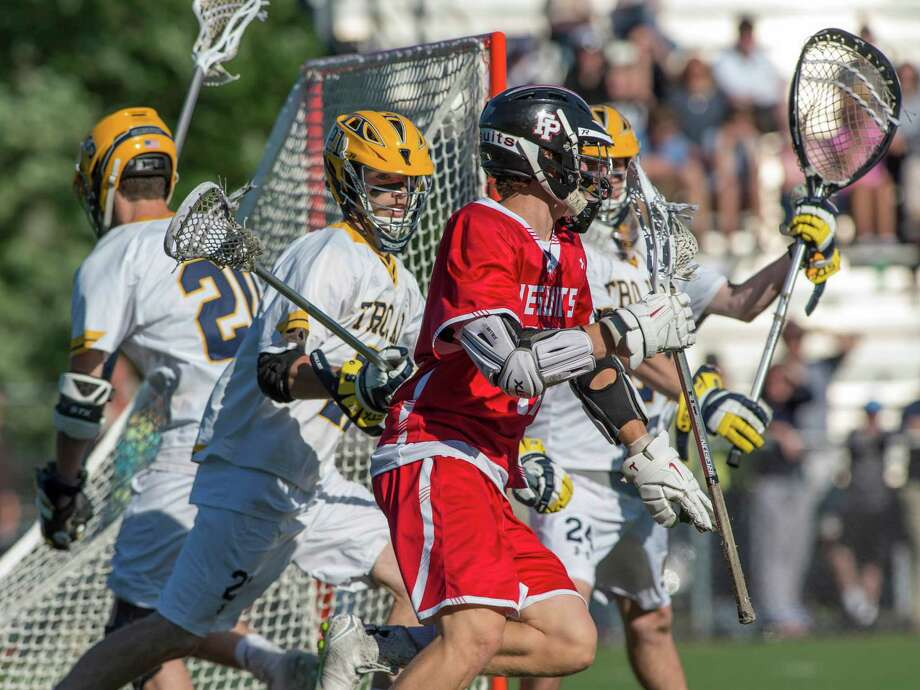 Fairfield Prep against Simsbury High School during a CIAC semifinal boys lacrosse game played at Sage Park, Berlin, CT Thursday, June 9, 2016. Photo: Mark Conrad / For Hearst Connecticut Media / Connecticut Post Freelance
