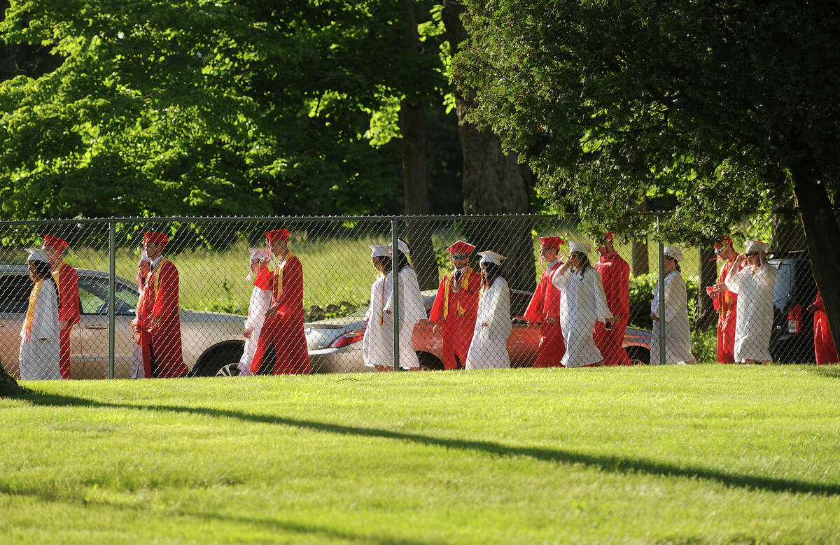 The Derby High School graduation ceremony at Leo F. Ryan Athletic Complex in Derby, Conn. on Thursday, June 9, 2016.