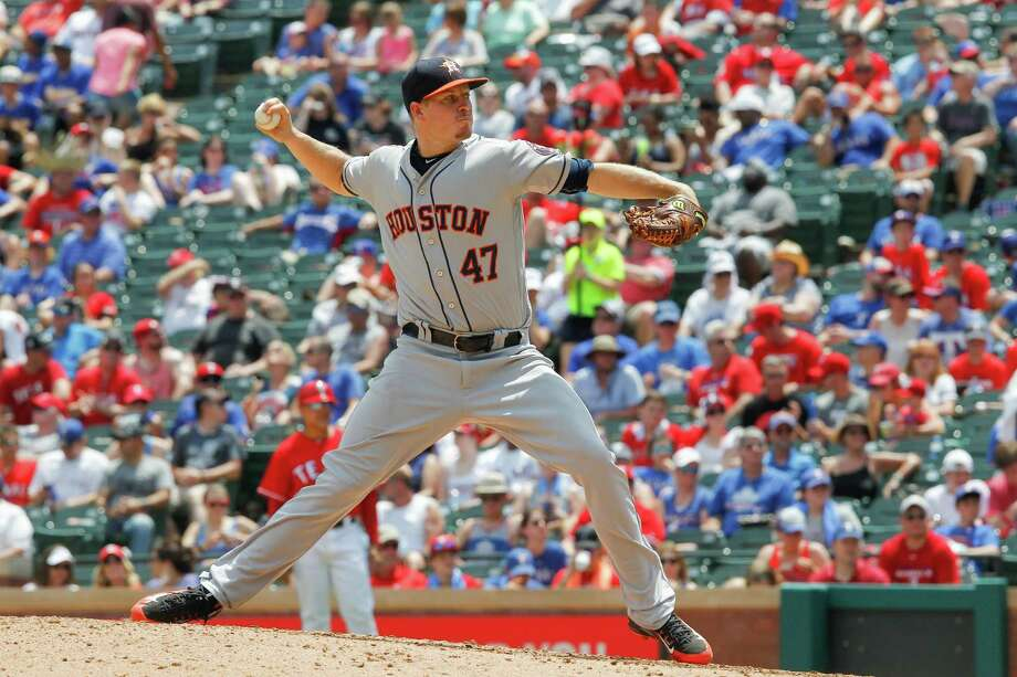 Reliever Chris Devenski did the Astros' bullpen a big favor by filling in with 31⁄3 innings of no-hit ball against the Rangers on Thursday. Photo: Tim Sharp, FRE / FR62992 AP
