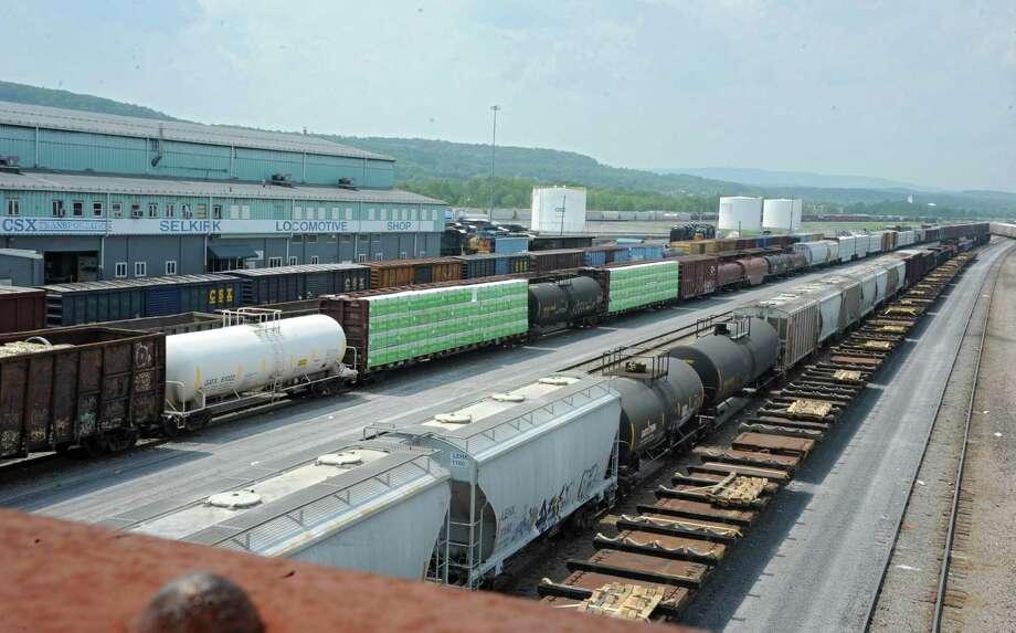 Rail cars are parked at the CSX rail yard on Wednesday, July 23, 2014, in Selkirk, N.Y. (Lori Van Buren / Times Union) Photo: Lori Van Buren / 00027868A