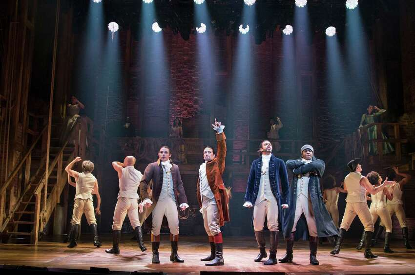 FILE -- From left: Anthony Ramos, Lin-Manuel Miranda, Daveed Diggs and Okieriete Onaodowan in the musical