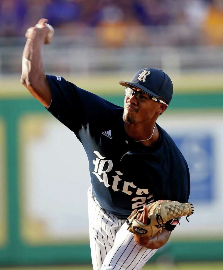 Rice pitcher Jon Duplantier was not picked on the first day of the MLB draft, but he likely will not have to wait long Friday to find out where he is headed. Photo: Gerald Herbert, STF / Copyright 2016 The Associated Press. All rights reserved. This material may not be published, broadcast, rewritten or redistribu