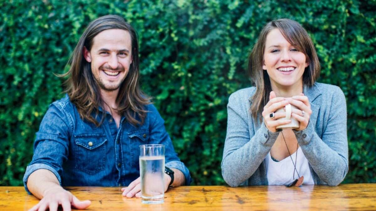 Barkeeps: Taylor Collins and Katie Forrest of EPIC protein bars.