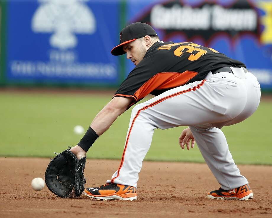 San Francisco Giants' Adam Duvall during Spring Training at Scottsdale Stadium in Scottsdale, Arizona, on Sunday, March 1, 2015. Photo: Scott Strazzante, The Chronicle