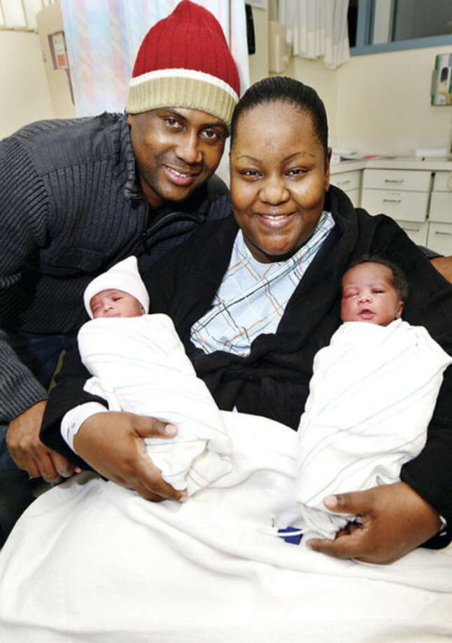 Hour photo / Erik TrautmannJermaine Grant and Joy Richards had twin girls, Jadyn Alexandria and Jordyn Elizabeth at approximately 3 a.m. New Year's Day.