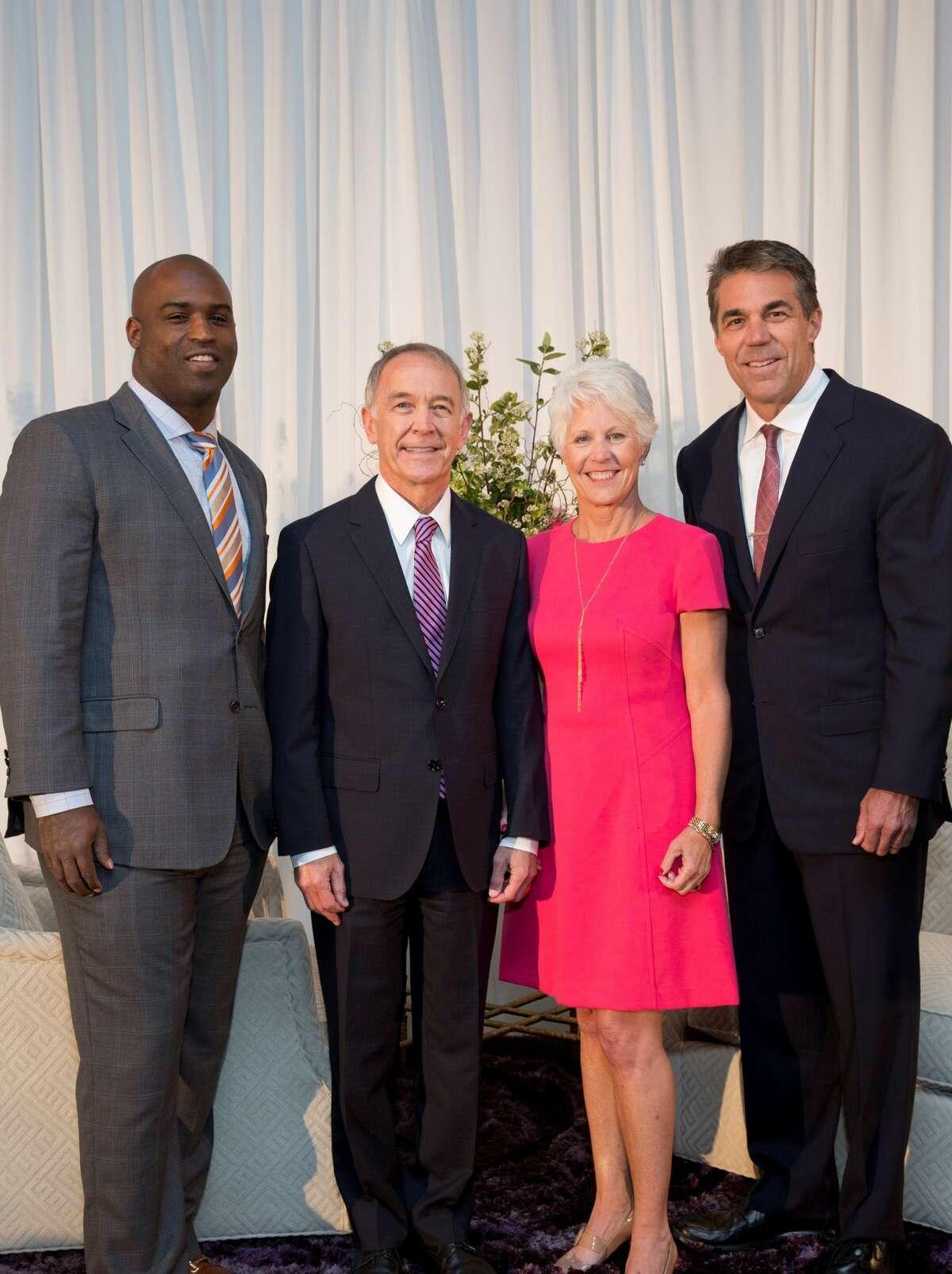Ricky Williams, Dr. C. Edward Coffey (Menninger President & CEO), Kathy Coffey, Chris Fowler