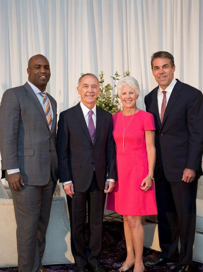 Ricky Williams, Dr. C. Edward Coffey (Menninger President & CEO), Kathy Coffey, Chris Fowler Photo: Jenny Antill