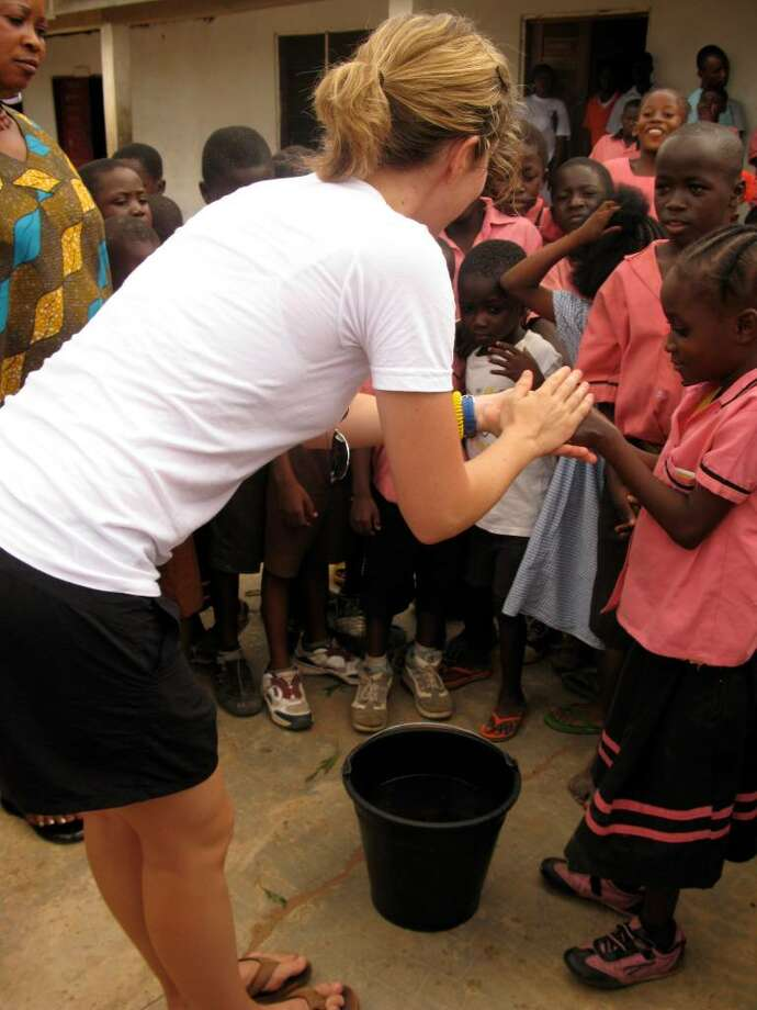 Rebecca Robbins spent a summer working on clean-water initiatives with World Vision in Ghana. Photo: Contributed Photo / Darien News