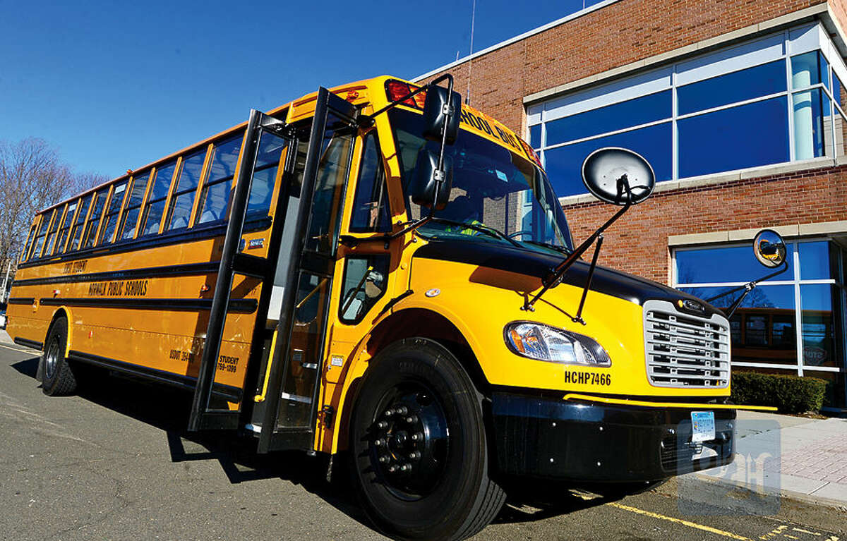 Hour photo / Erik Trautmann In this file photo, First Student puts new school buses into service this week including the Thomas Built SAF-T-LINER® C2.
