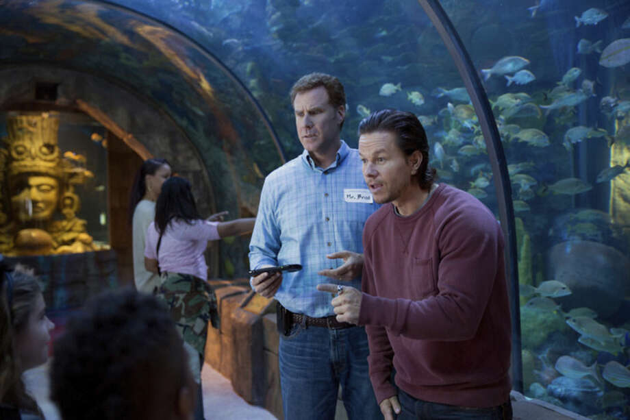 """Patti Peret/Paramount Pictures via APThis photo provided by Paramount Pictures shows Mark Wahlberg, right, as Dusty Mayron and Will Ferrell as Brad Whitaker, in the film, """"Daddy's Home"""" from Paramount Pictures and Red Granite Pictures."""