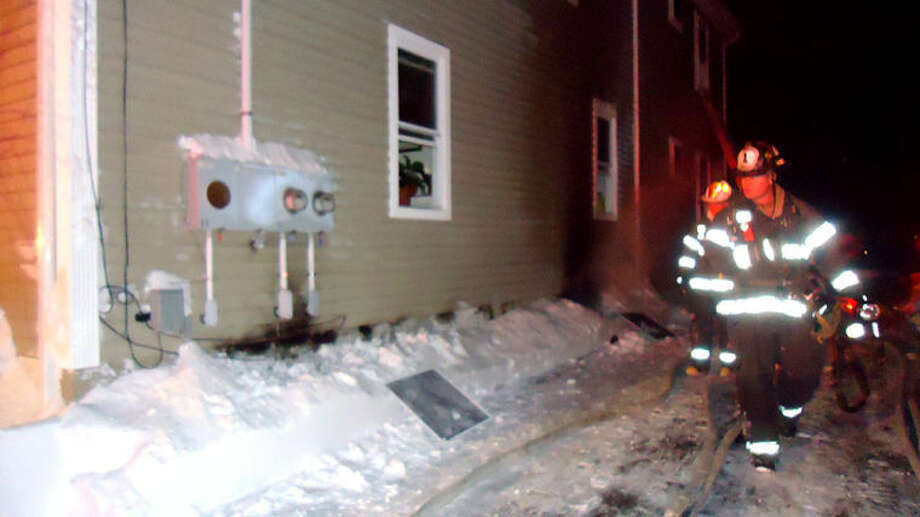 Contributed photo Norwalk Fire Department responds to 204 South Main St. Friday night.