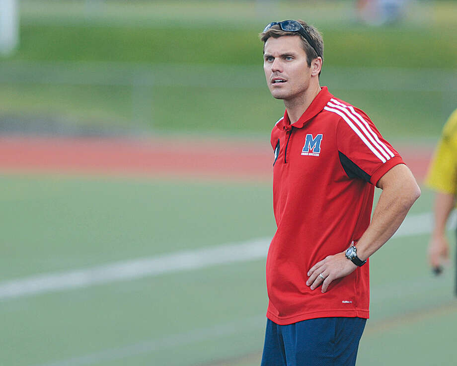 Hour photo/John Nash - Ben Ingalls, former boys soccer coach at Brien McMahon, has stepped down after the Senators missed the state tournament by one game this fall.