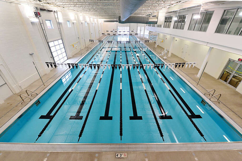 Hour photo / Erik Trautmann The Swim Seventy Aquacenter 6 lane, 50 meter lap pool. The center also has a 30×60 warm water lesson and fitness pool, an endless pool for stroke analysis and therapy, a dedicated triathlon training center and yoga studio and will open at the end of this month.
