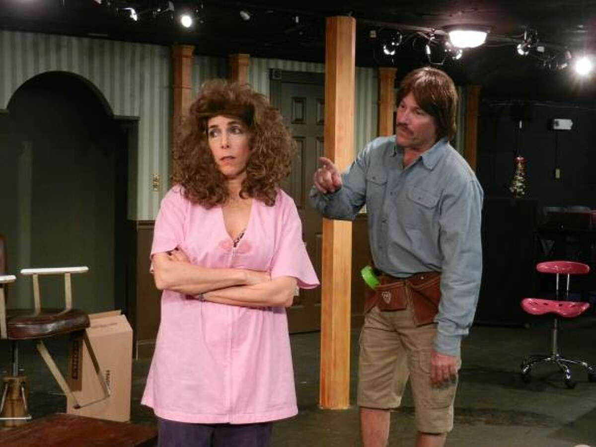 """Real life husband and wife Marc and Cindy Hartog of Westport play opposite each other in Curtain Call's production of """"The Hallelujah Girls,"""" playing in The Dressing Room Theatre from Jan. 10 through Feb. 1."""