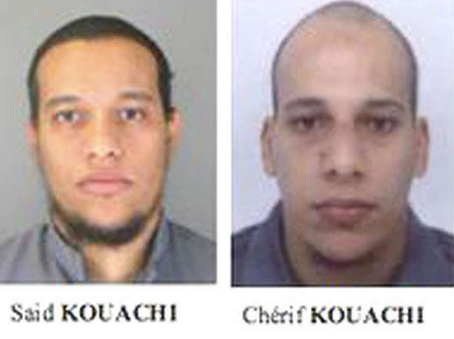 Courtesy of French PoliceSaid Kouachi (left) and Cherif Kouachi (right)named as suspects in the Charlie Hebdo attack.